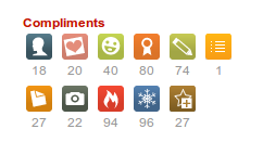 Yelp's compliment icons and badges